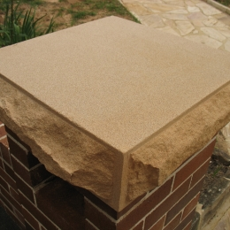 Rock faced sandstone coping Domestic
